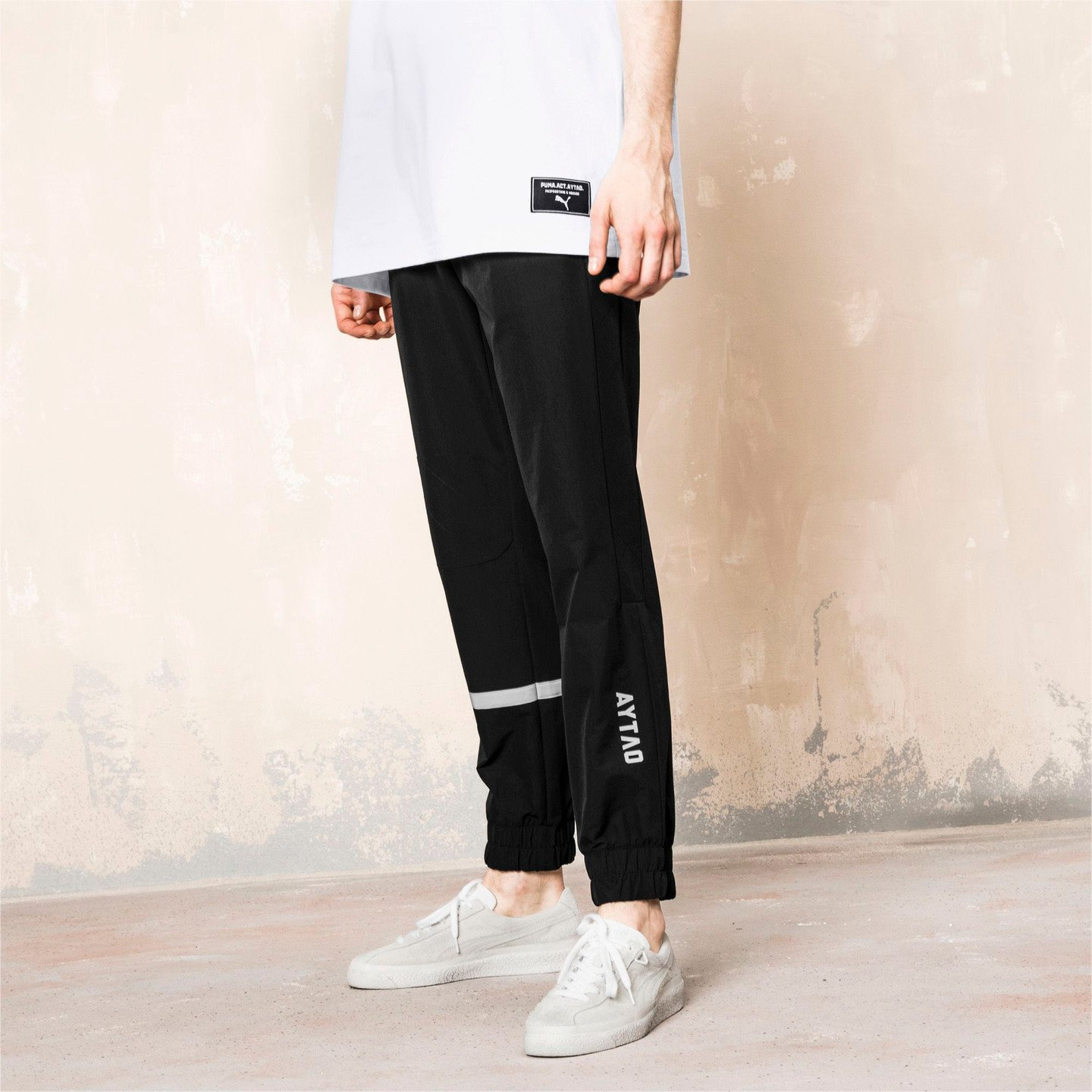 Puma Track Pants x Outlaw Moscow Puma Black / Reflective Silver 576873 01