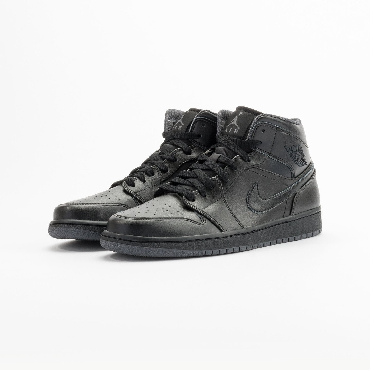 Nike Air Jordan 1 Mid Black / Dark Grey 554724-021-45