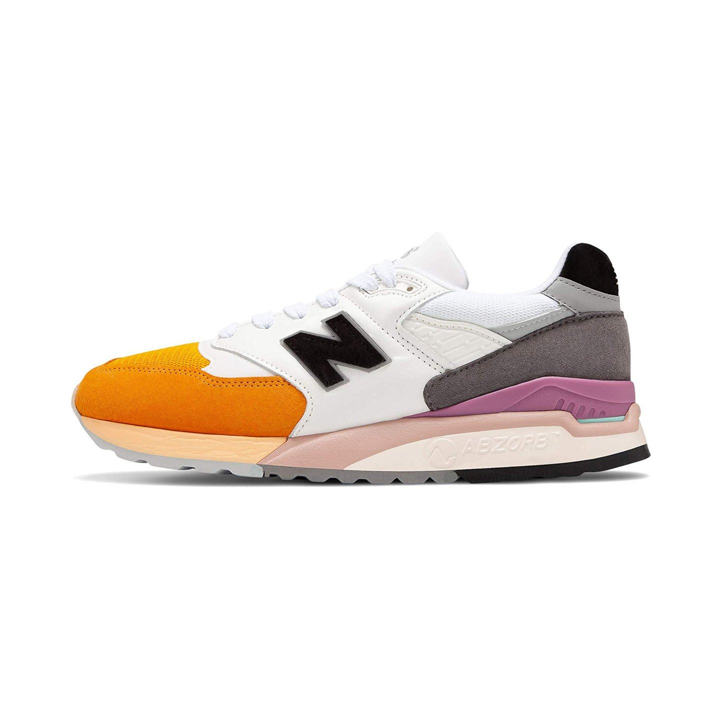 New Balance M998 - Made in USA Yellow / White / Purple M998PSD