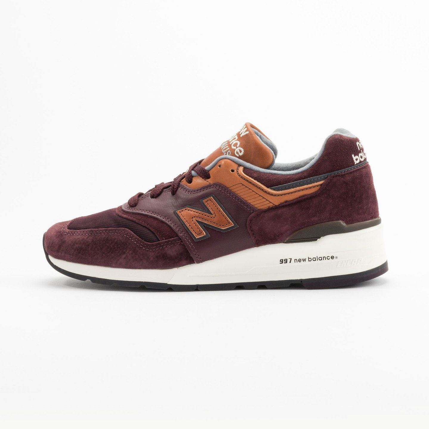 New Balance M997 Made in USA Burgundy / Light Brown M997DSLR-41.5