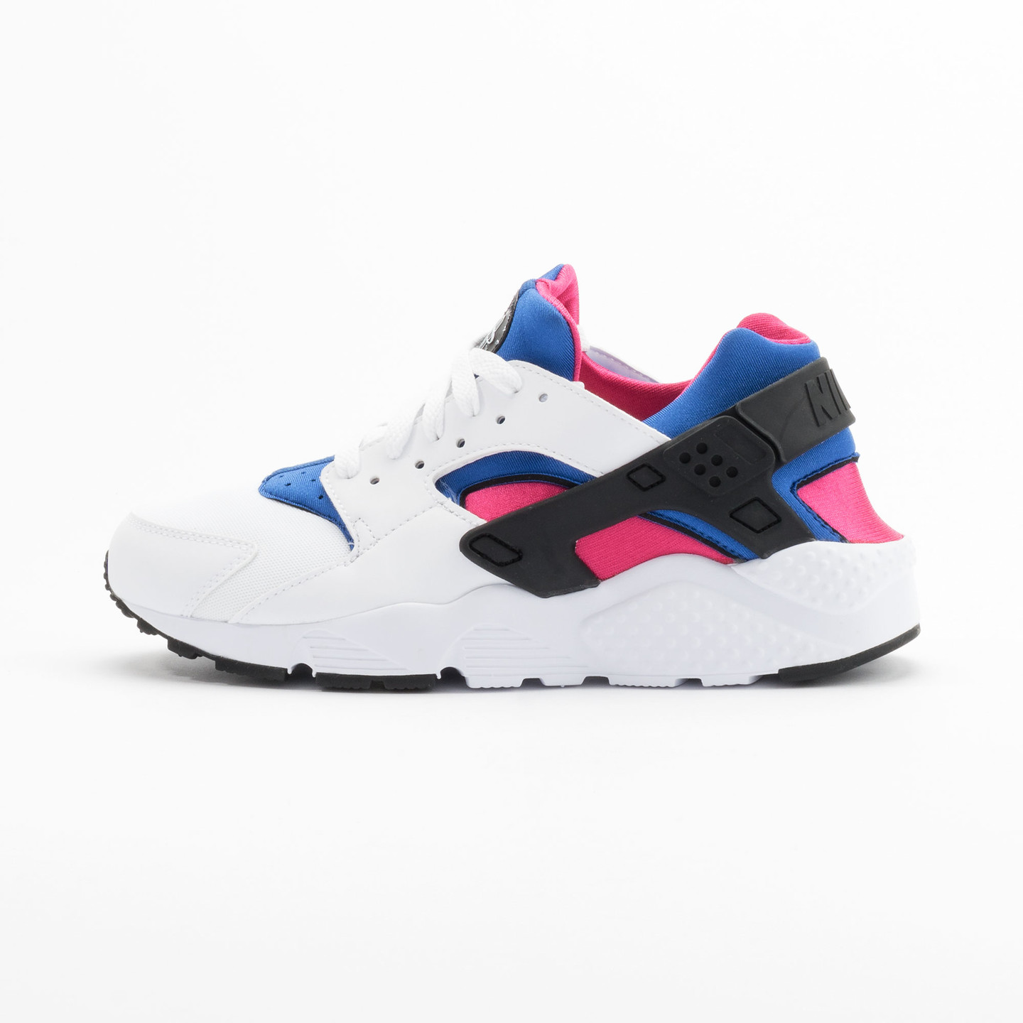 Nike Huarache Run GS White / Black / Game-Royal / Vivid-Pink 654275-106-37.5