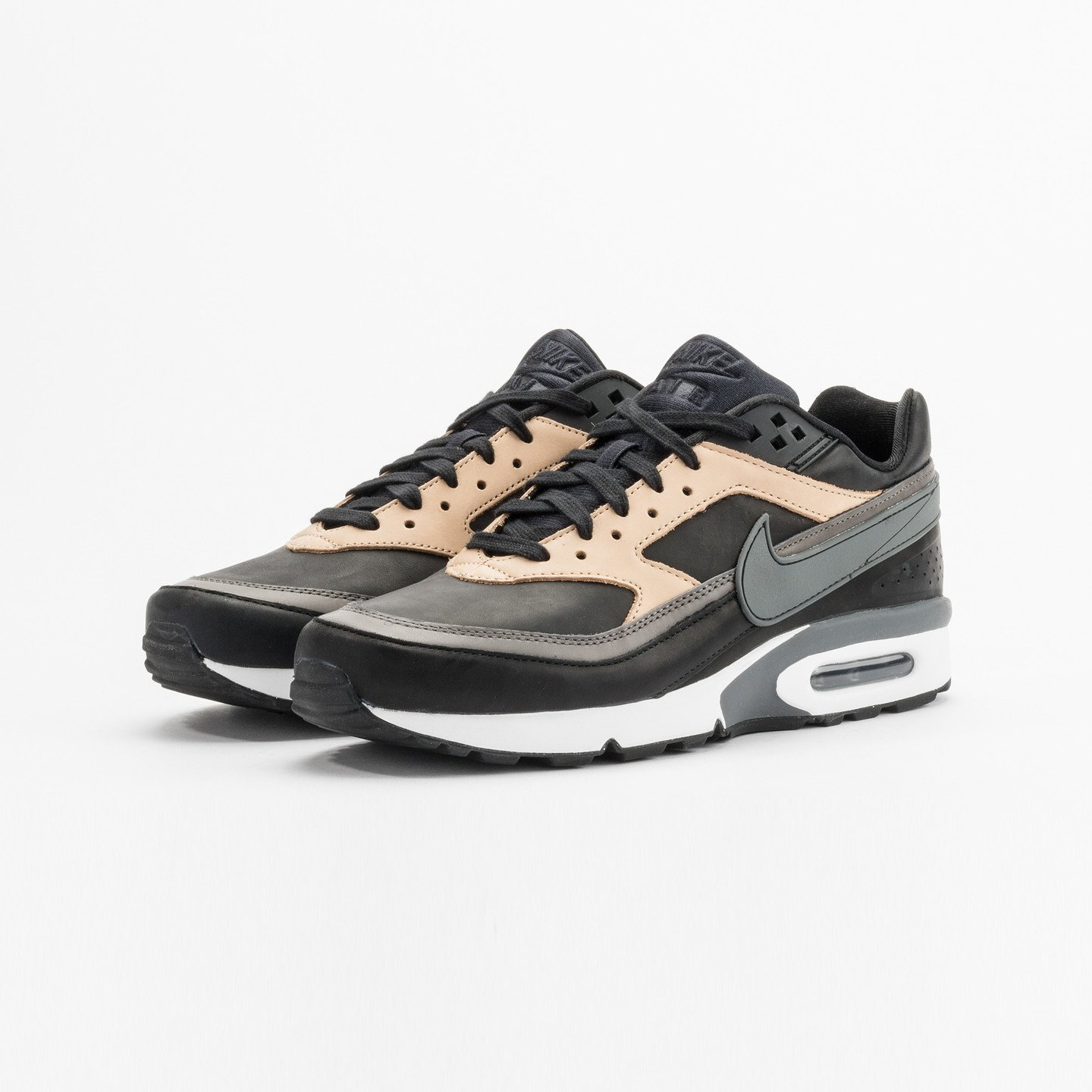 4b672540f2 Nike Air Max BW Premium Leather Black / Dark Grey / Vachetta 819523-001