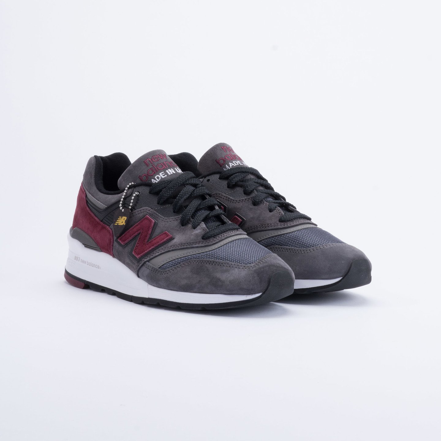 New Balance M997 Made in USA Charcoal/Burgundy M997CCF-42