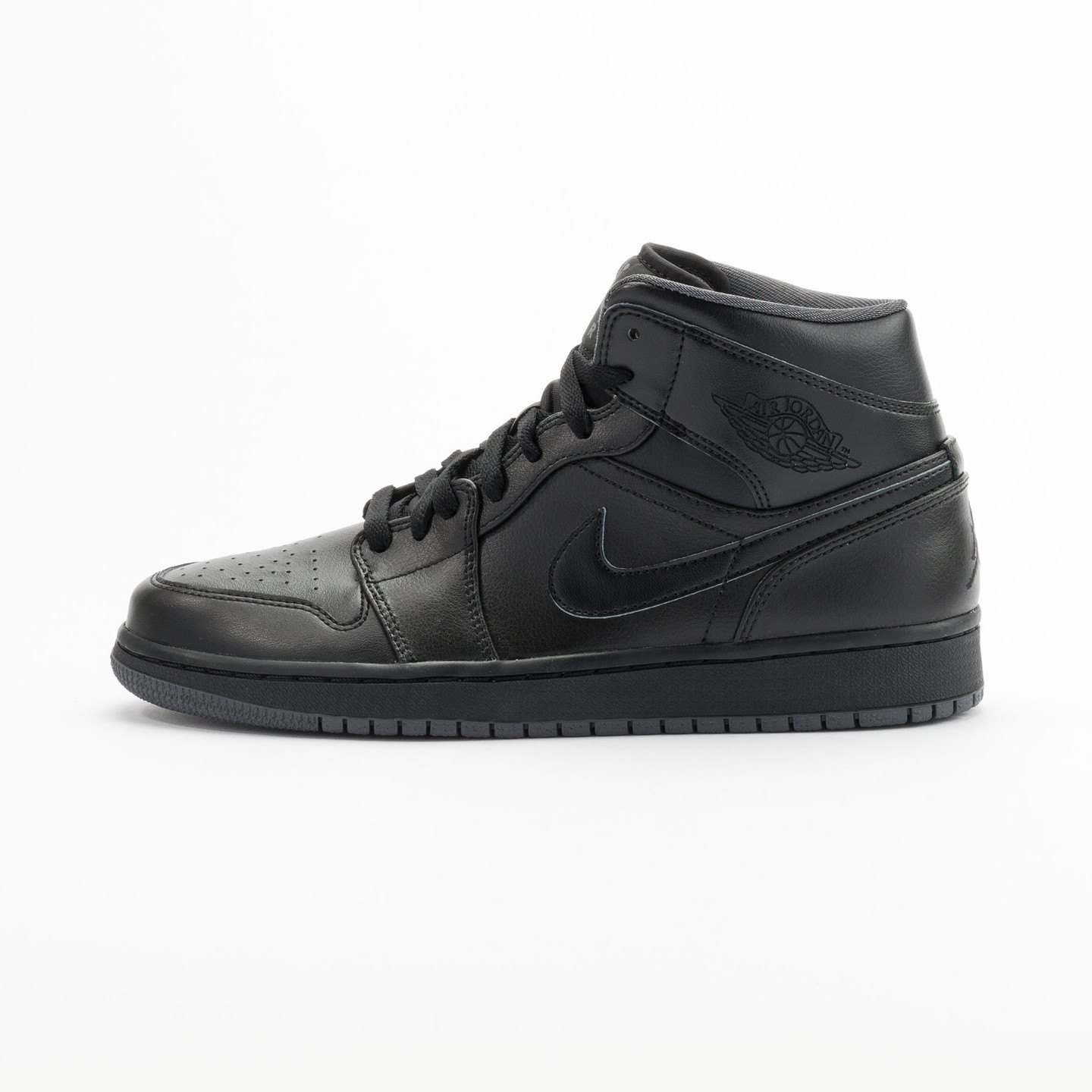 Nike Air Jordan 1 Mid Black / Dark Grey 554724-021-46