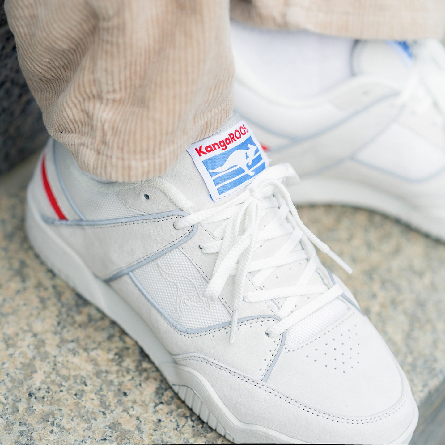 KangaROOS Baseline OG Off White / Collegiate Red / Royal Blue 47269-0029