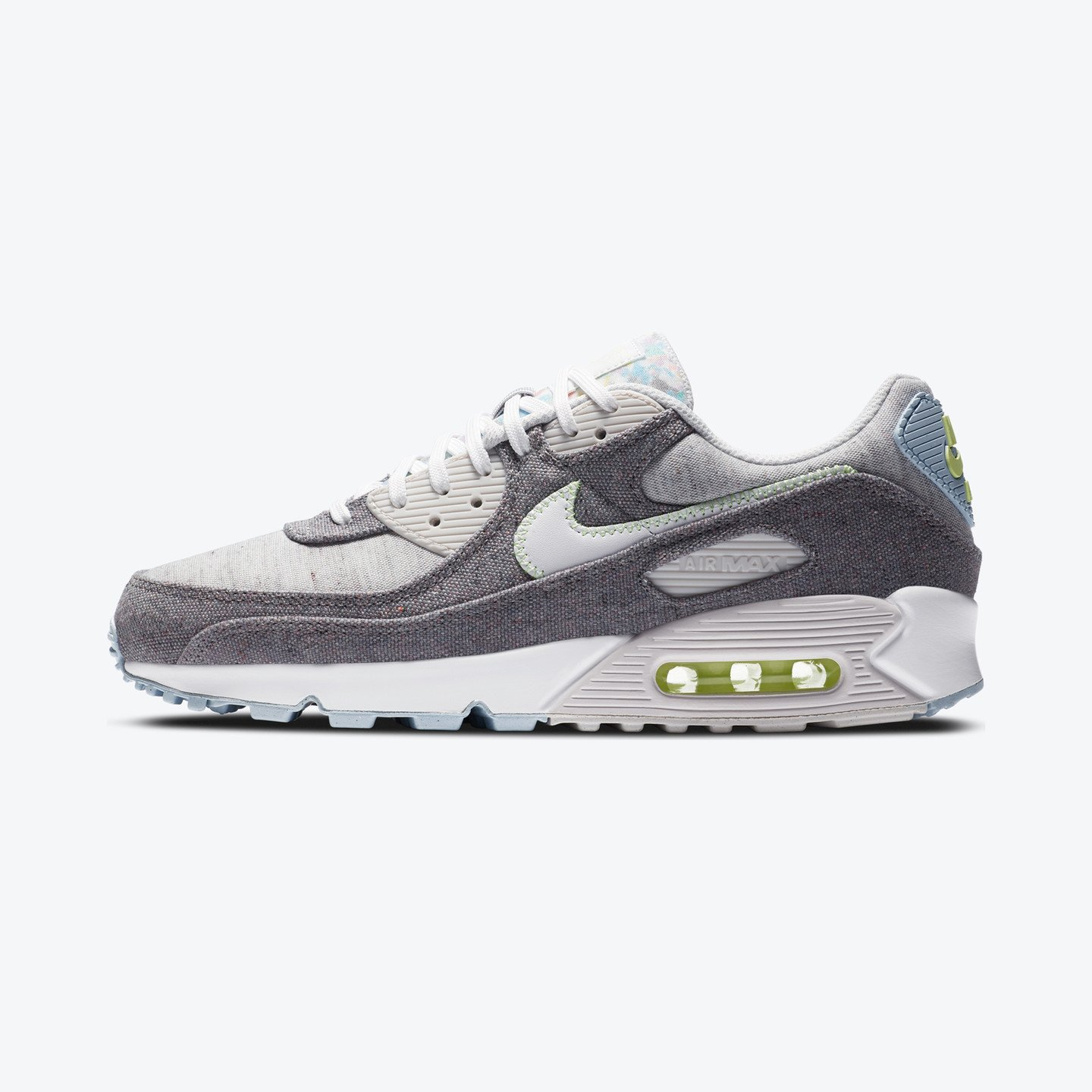 Nike Air Max 90 NRG Recycled Vast Grey / Barely Volt / Celestine Blue / White CK6467-001