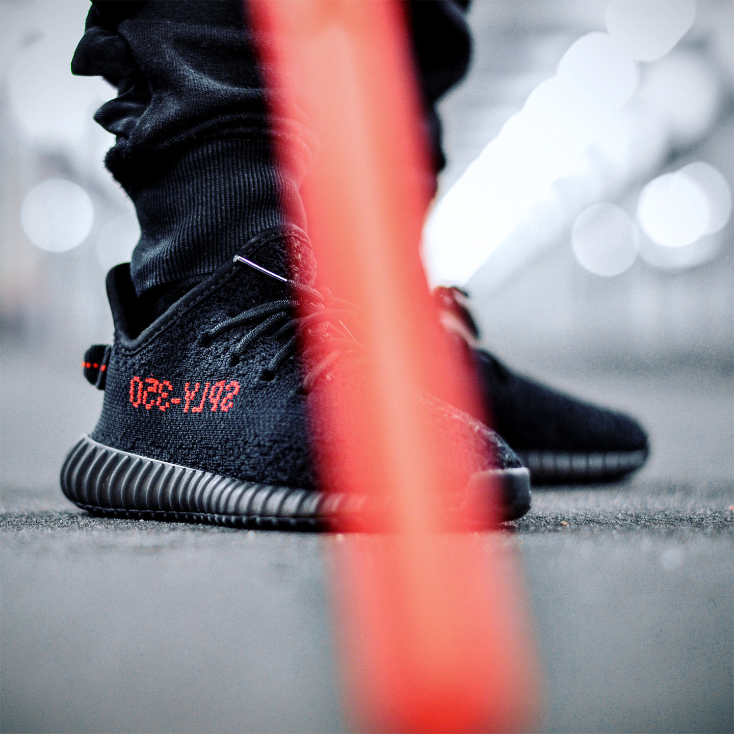 Adidas Yeezy Boost 350 V2 Infant Core Black / Red BB6372-27