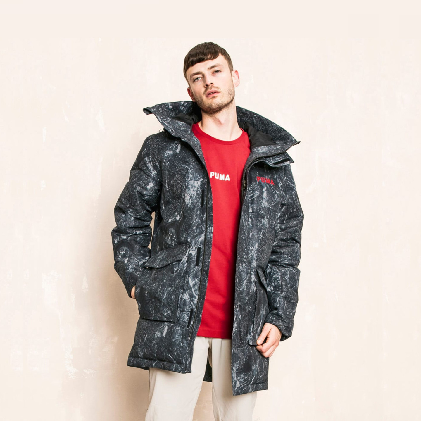 Puma Down Jacket x Outlaw Moscow Grey / Red 576882-51