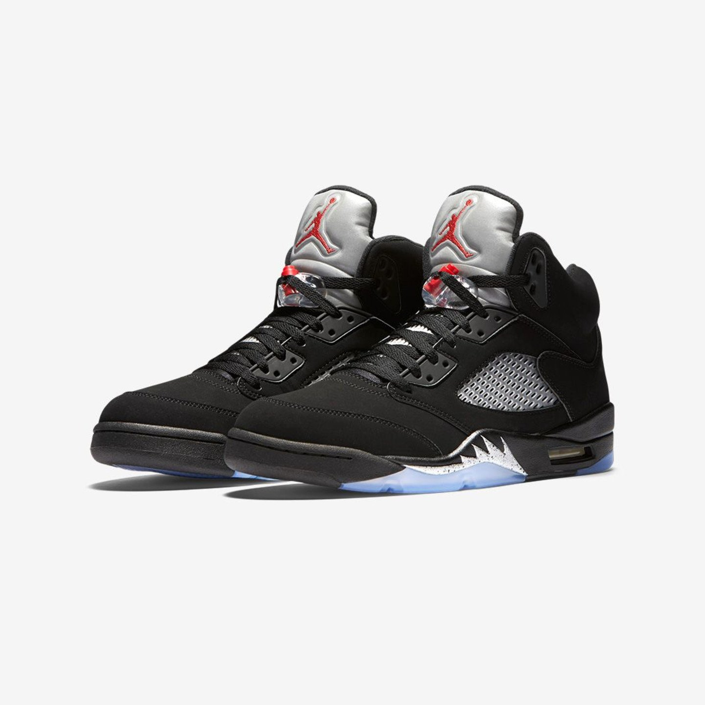 Jordan Air Jordan 5 Retro OG BG 'Metallic Silver' Black / Metallic Silver / Fire Red 845036-003