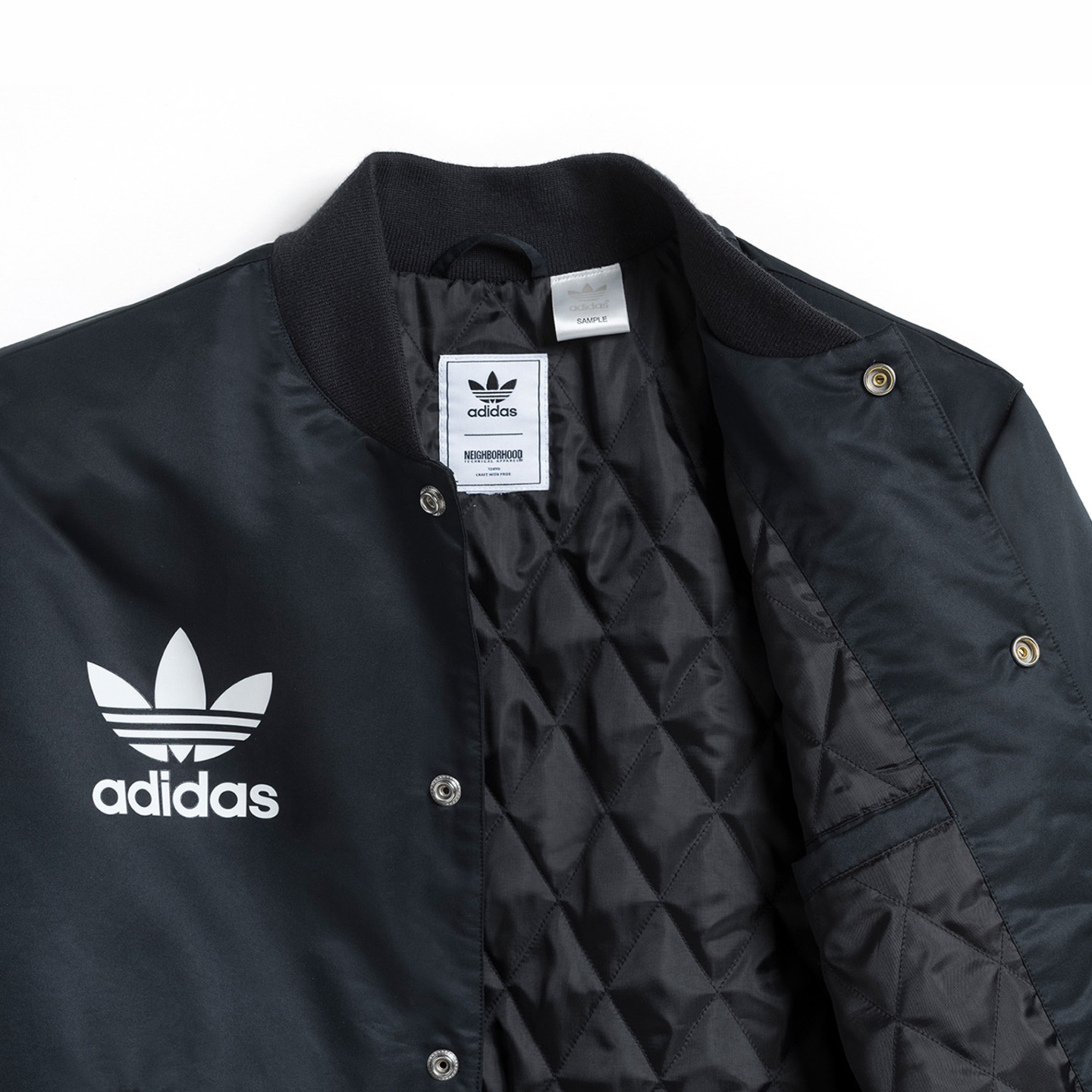 Adidas Neighborhood Stadium Jacket Black / White CD7732