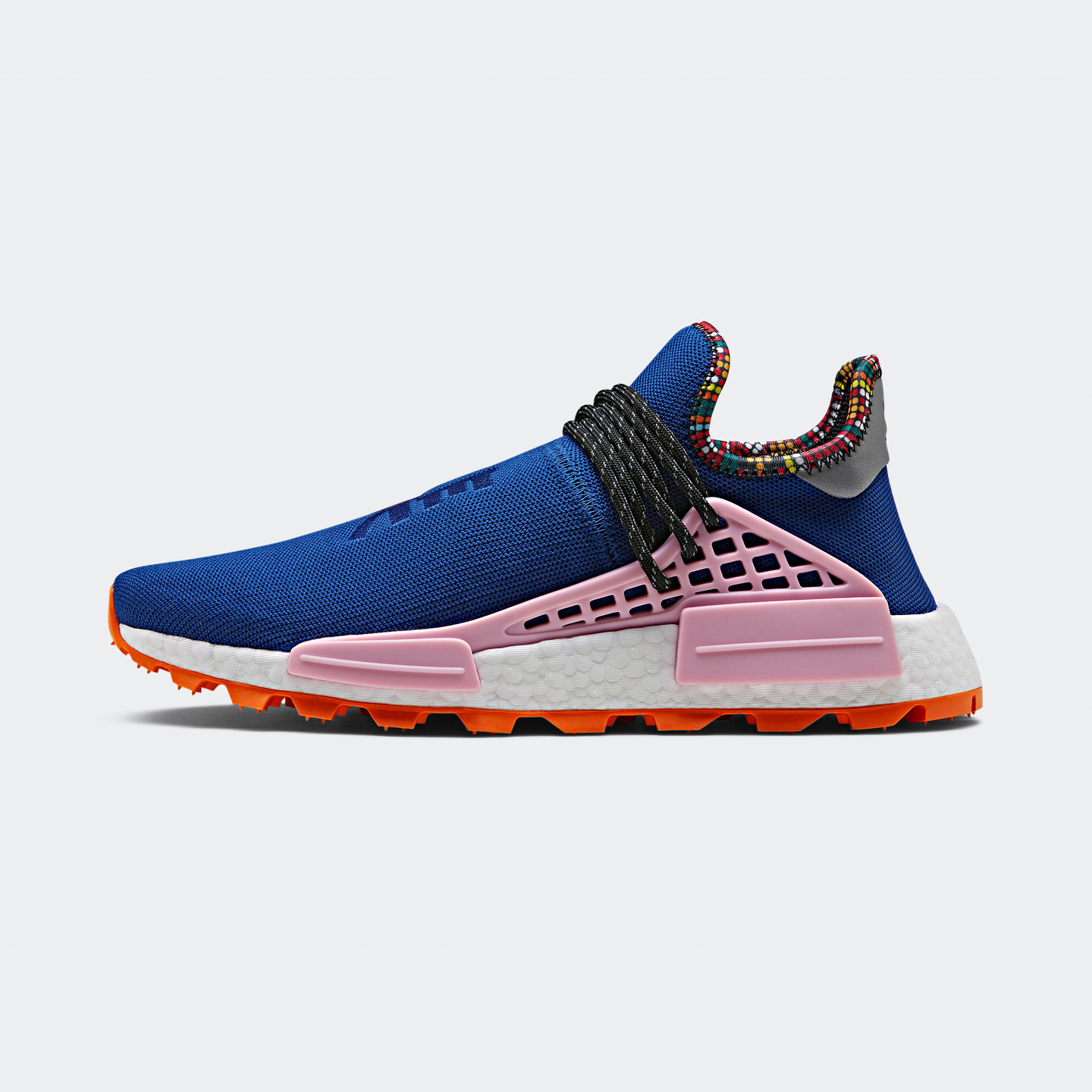 Adidas Pharrell Williams 'Solar HU' NMD Power Blue / Light Pink / Orange EE7579
