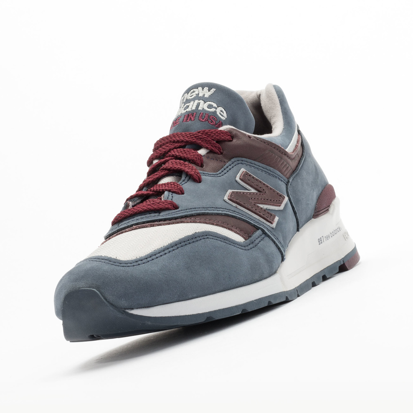 New Balance M997 DGM - Made in USA Grey Steel / Burgundy M997DGM-42