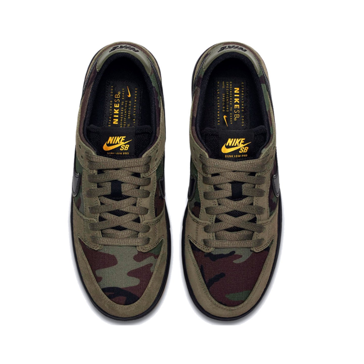 Nike SB Zoom Dunk Low Pro 'Camouflage' Medium Olive / Black / Gum 854866-209