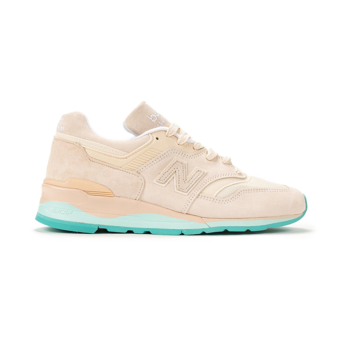 New Balance M997 - Made in USA Light Bone / Aqua M997RSA
