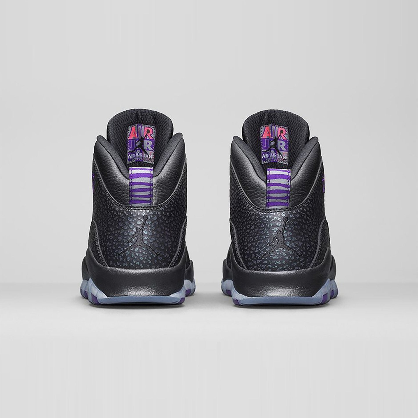 Jordan Air Jordan 10 Retro 'Paris' Black / Fierce Purple 310805-018-42.5