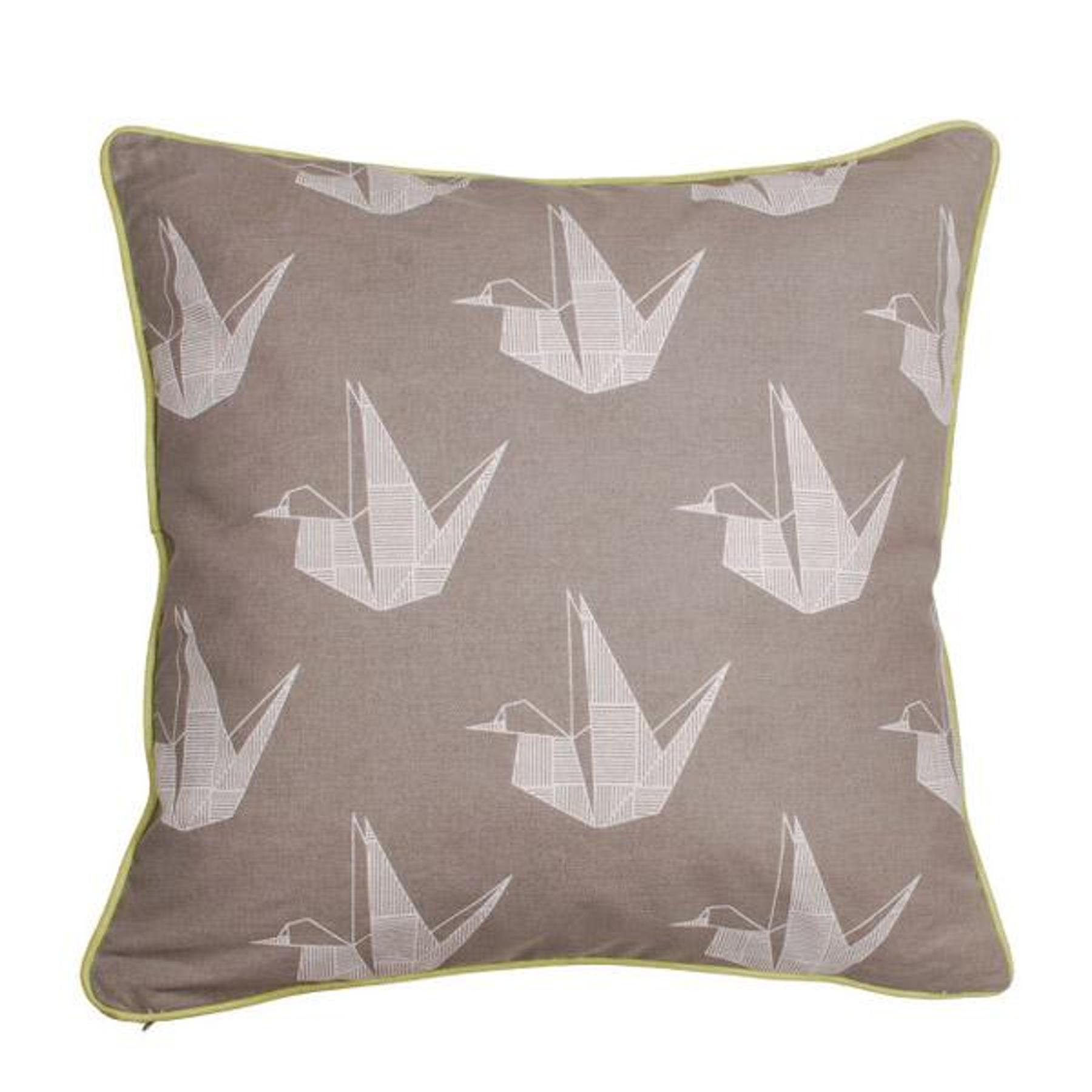 Aspegren Kissen Design Swan Hellbraunes Sofakissen Mit Origami