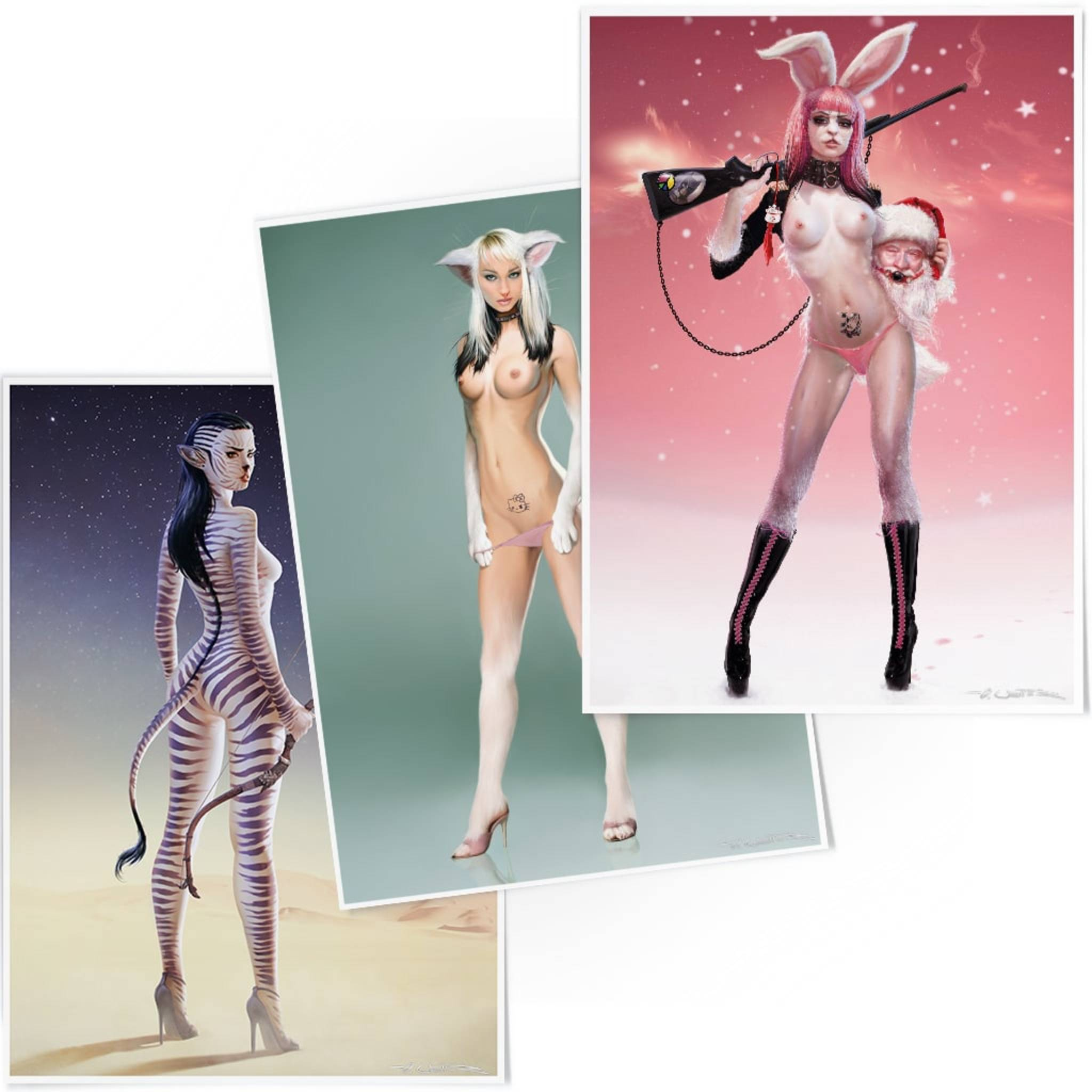Neko the Catwoman, Easterbunny VS. Santa & Cebragirl Bundle