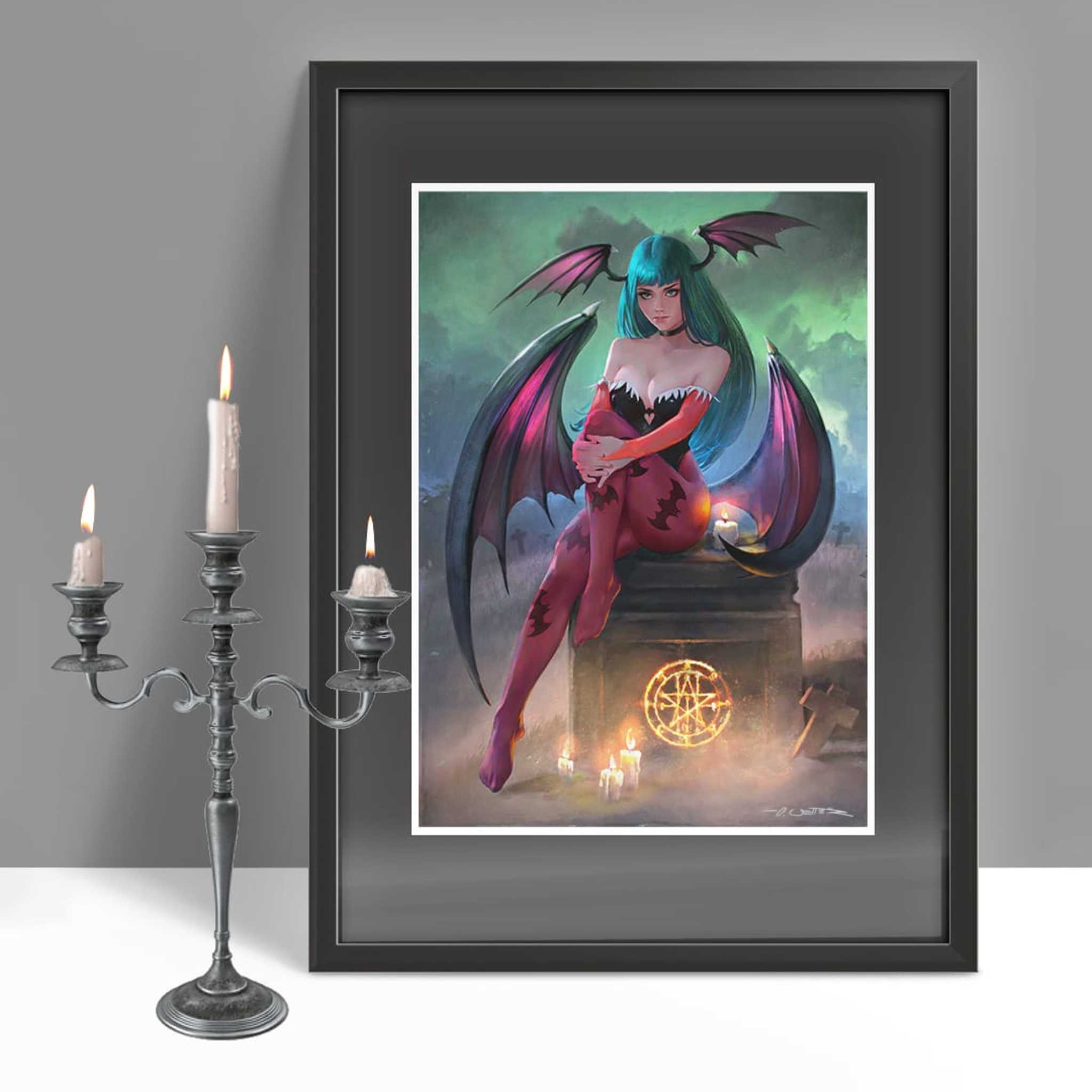 Morrigan framed 1