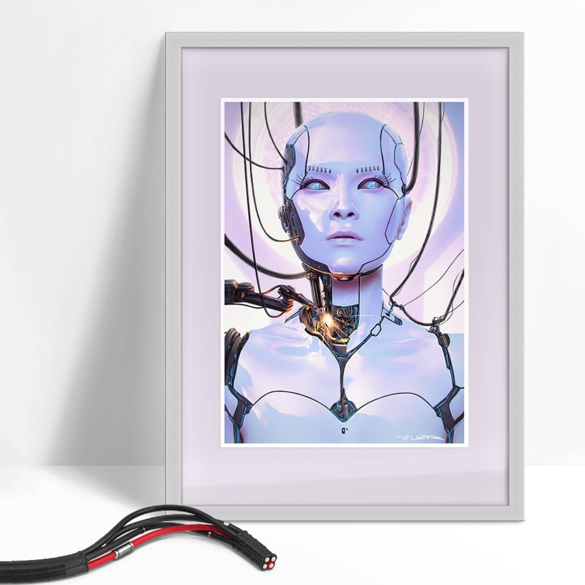 Android Legacy Art Print  framed