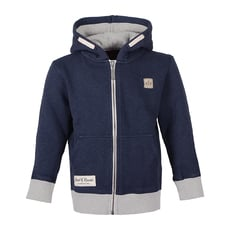 Slub Zip Hooded (navy)