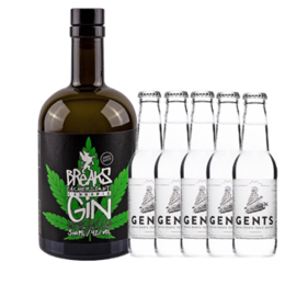 Cannabis Gin & 5 FL. Gents Tonis Water