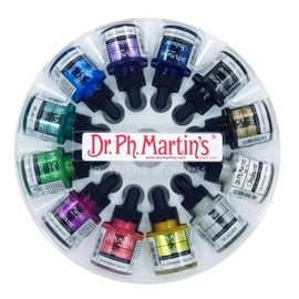 Dr.Ph.Martin's Iridescent Calligraphy Color Set 1 | 12x 29,57 ml im Glasflakon mit Pipette | Artikelnummer: DPMSet1