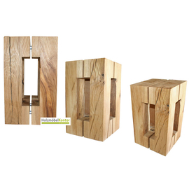 holzblock klotz hocker vom holzblock shop. Black Bedroom Furniture Sets. Home Design Ideas