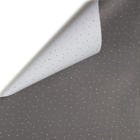 Schneegestöber doppelseitiges Geschenkpapier / Grey & White Dots two-sided Wrapping Paper | Buntpapier 48 x 67cm / Patterned Paper | Artikelnummer: mpc-papier-schnee