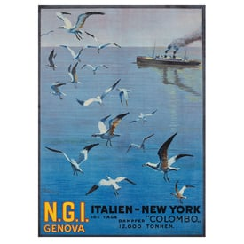 N.G.I. Genova. Italien - New York | Advertising Poster 1921 | Artikelnummer: POD-PI-588