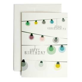 Birthday Lights Grusskarte | Klappkarte mit Umschlag von pleased to meet | Artikelnummer: 1042