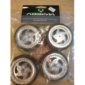 Absima 2510015 Wheel Set Onroad chrome | (4St) | Artikelnummer: 2510015