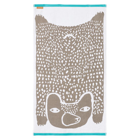 Bear Bath Towel, 70x125cm |  | Artikelnummer: BB-Tow-Bear-Gry-Bath