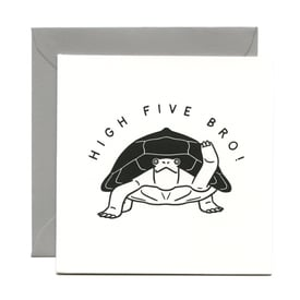 High Five Bro! – Grußkarte / Greeting card | Buchdruck / Letterpress | Artikelnummer: wrp_high5