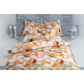 Satin Bettwäsche Mila orange | 160x210cm | Artikelnummer: 51.188.12