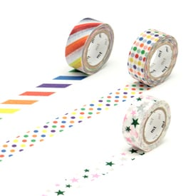 mt for Kids Pattern Masking Tape (3 Varianten) | Sterne / Stars | Artikelnummer: MT01KID06Z