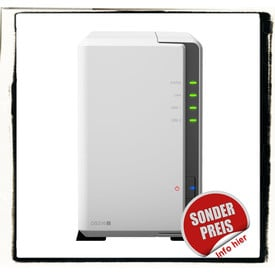 Synology DS216j incl. 2TB (2 x 1TB) HDD NAS RAID Server Bundle | ab Lager lieferbar! | Artikelnummer: DS216j 2-Bay 2TB