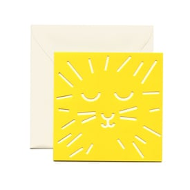 Kleine Grußkarte Löwe / Small Lion Greeting Card | Ausgestanzte Karte / Cut Out Card | Artikelnummer: cm_loewe
