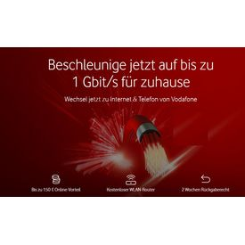 Red Internet & Phone 1000 & Giga TV HD mit 300 € Bonus/Cashback |  | Artikelnummer: 901313
