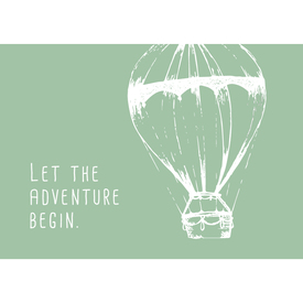 Let the adventure begin. (Ballon) Postkarte |  | Artikelnummer: 10-19-035