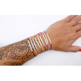 Armband 'Pure Jewels - Rainbow' | schwarz | Artikelnummer: blackk