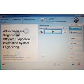 ODIS Engineering 6.6.1 DIAGNOSE SOFTWARE incl. ODX Update, Komponenten Aktivierung | Windows XP bis 7 32 & 64bit,  im Kompatibilitätsmodus auch Win 10   | Artikelnummer: 000001018