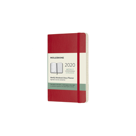 2020 Moleskine Weekly Notebook Pocket | Softcover, rot / red | Artikelnummer: 629186-rot