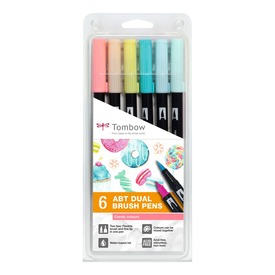 ABT Brush Pen 6er-Set | candy colors  | Artikelnummer: ABT-6P-4