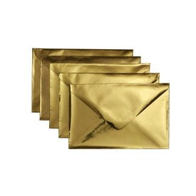 5 x Metallic Kuvert C6 / 5 x metallic envelope C6 | Gold  | Artikelnummer: envelopes_c6_gold