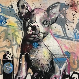 My french bulldog loves cocktails | 36 x 36 cm | Artikelnummer: COPAA739