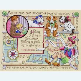 For My Son - borduurpakket met telpatroon Janlynn |  | Artikelnummer: jl-023.0513