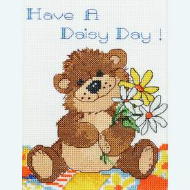 Have a Daisy Day! - borduurpakket met telpatroon Janlynn |  | Artikelnummer: jl-038.0203