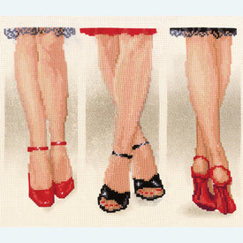 Shoe Delight - kruissteekpakket met telpatroon Vervaco |  | Artikelnummer: vvc-75208