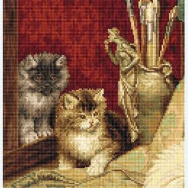 The Dog and Cats - borduurpakket met telpatroon Luca-S |  | Artikelnummer: luca-b582