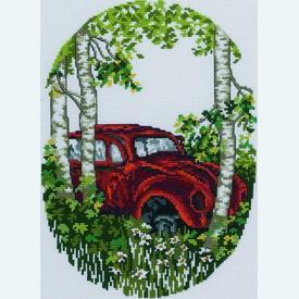 Old-Timers VW -  borduurpakket met telpatroon - Permin |  | Artikelnummer: pm-92-0371
